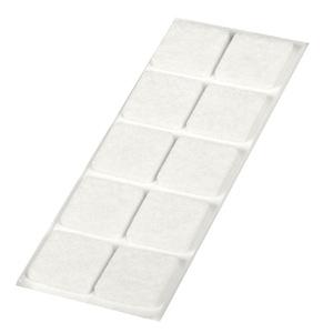 fieltro deslizantes cuadrado blanco 20x20mm