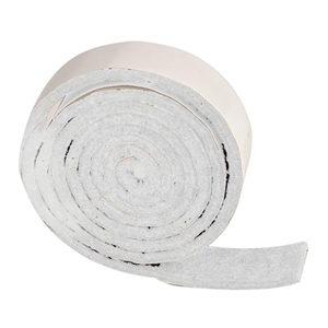 rollo 1m fieltro deslizante al corte blanco 19mm