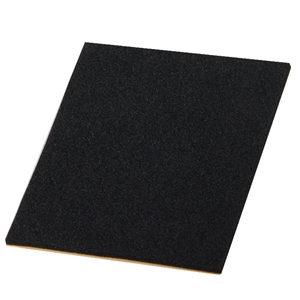 sheet of adhesive bumper 85x100mm anti-slip black foam rubber furniture