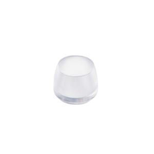 tacos contera tapon exterior transparente para pata tubo metalica 12mm