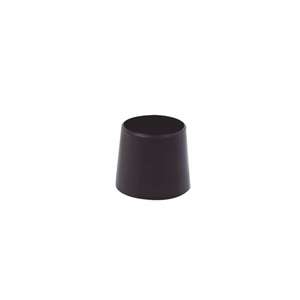 ferrules cap plug 10mm outer mounting. black plastic for furniture chair legs