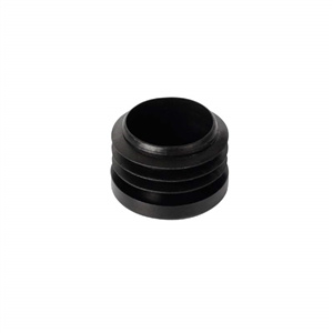 ferrules cap plug 18mm inside mounting. black plastic for furniture chair legs
