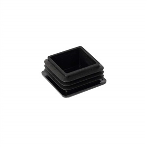 ferrules cap plug 20mm inside mounting. black plastic for furniture chair legs
