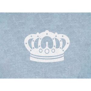 alfombra infantil corona celeste lavable en lavadora algodon cn az imagen
