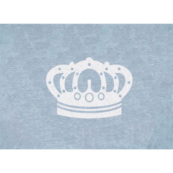 blue crown child rug in washing machine washable cotton cn az image