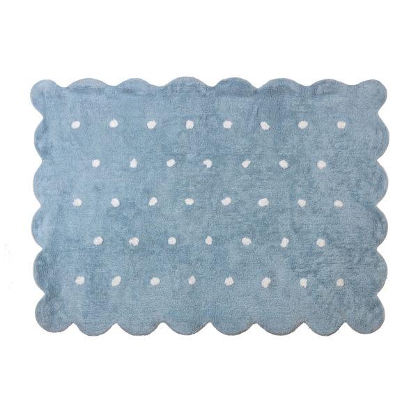 alfombra infantil modelo galleta celeste lavable en lavadora algodon coo az imagen