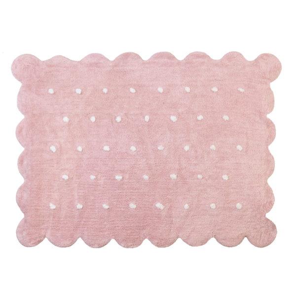 alfombra infantil modelo galleta rosa lavable en lavadora algodon coo rs imagen