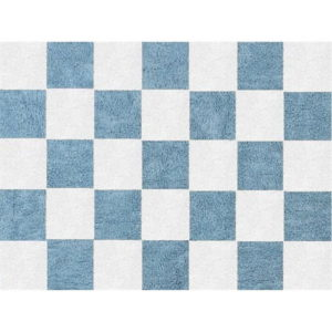 blue draughts child rug washable in washing machine cotton dam az image