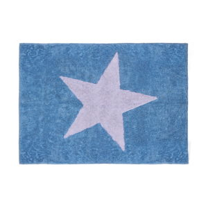 blue star child rug in washing machine washable cotton e az image