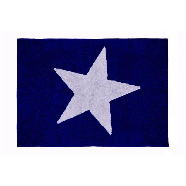 alfombra infantil estrella marino lavable en lavadora algodon e mar imagen