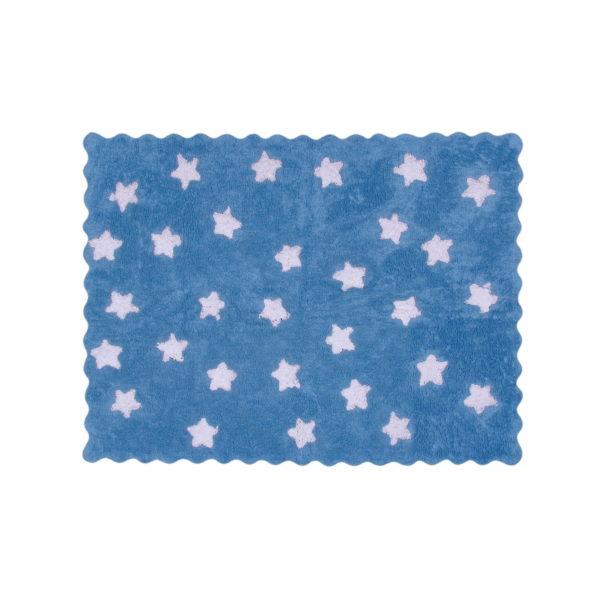 alfombra infantil eden celeste lavable en lavadora algodon ed az imagen