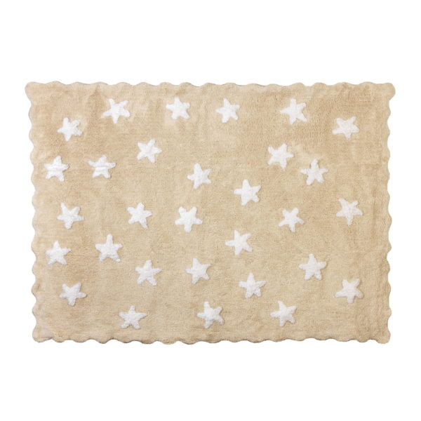 alfombra infantil eden beige lavable en lavadora algodon ed be imagen