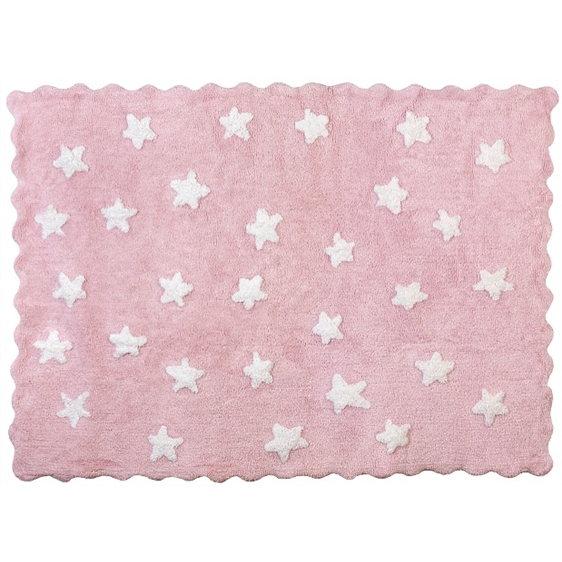 alfombra infantil eden rosa lavable en lavadora algodon ed rs imagen