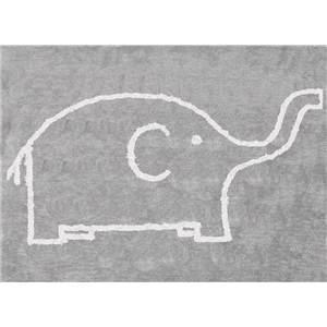 alfombra infantil elefante gris blanco lavable en lavadora algodon el gr imagen