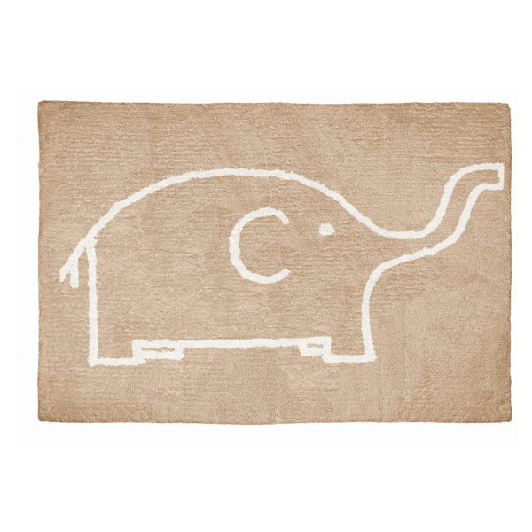 alfombra infantil elefante topo lavable en lavadora algodon el tp imagen