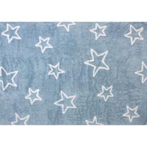 alfombra infantil estrellas celeste lavable en lavadora algodon est az imagen