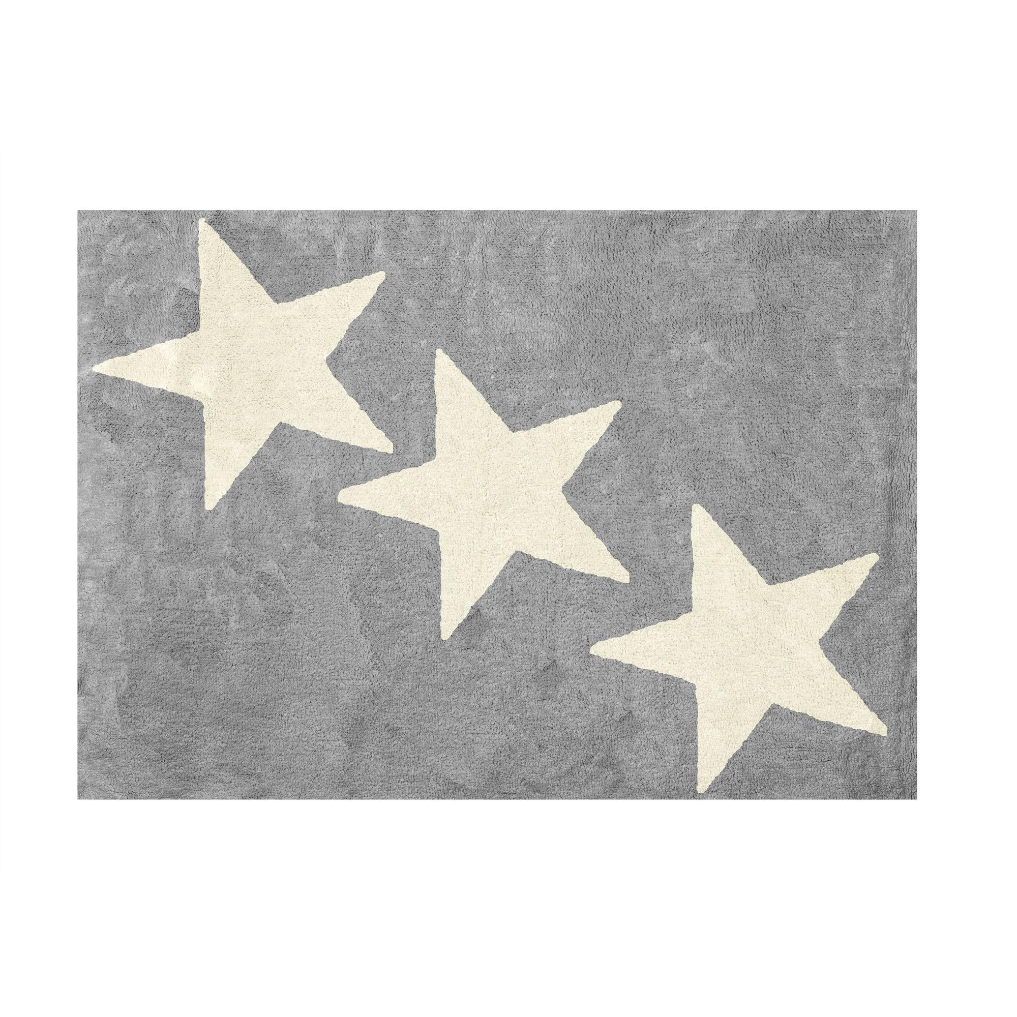 Beige Tela 120x160 cm Lilipouce Alfombra Infantil algod/ón Grandes Estrellas