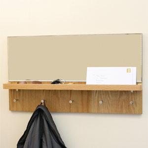 oak mirror shelf h001r