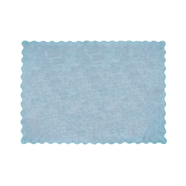 alfombra infantil lisa celeste lavable en lavadora algodon li az imagen