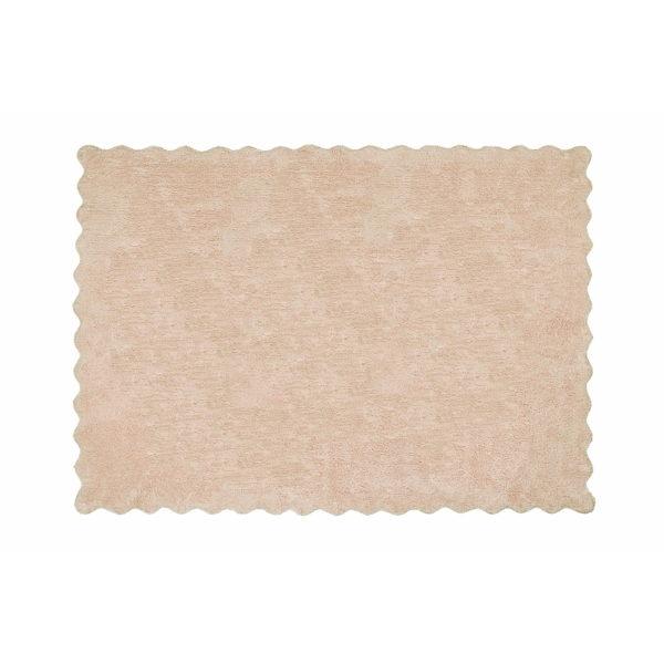 alfombra infantil lisa beige lavable en lavadora algodon li be imagen