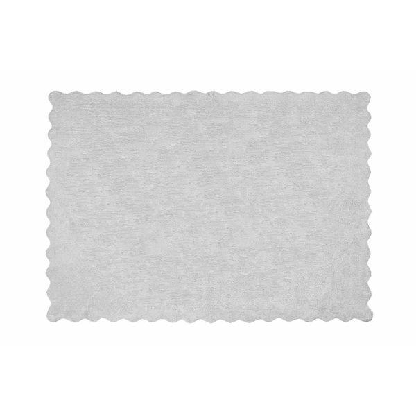 alfombra infantil lisa gris lavable en lavadora algodon li gr imagen