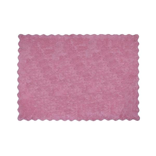 alfombra infantil lisa rosa lavable en lavadora algodon li rs imagen