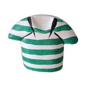 knob shirt green stripes lm015
