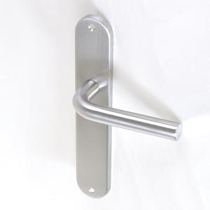Aluminio y zamak Manetas para puertas de interior Emuca N/íquel satinado. juego de manillas para puerta de paso con placa 43x250 mm