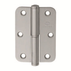 stainless steel hinge round corners left bi