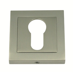 55mm square escutcheon keyhole door satin nickel finish manufactured in zinc alloy boc926