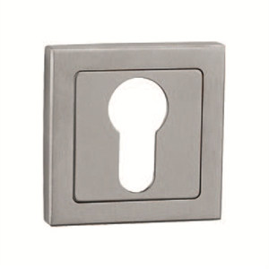 52mm square escutcheon keyhole door manufactured in satin stainless steel bocinoxc
