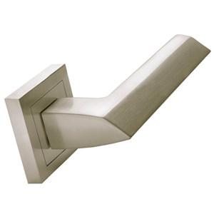 door handle 2 door handles set on square rosette satin nickel finish manufactured in zinc alloy 274 malisa