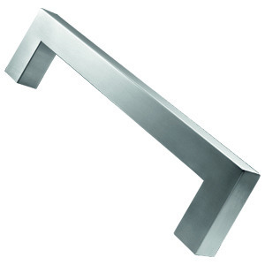 door handle 25mm pull manufactured in satin stainless steel 19x19mm section m2014250