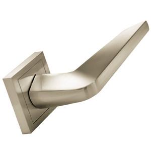 door handle 2 door handles set on square rosette satin nickel finish manufactured in zinc alloy mamerced
