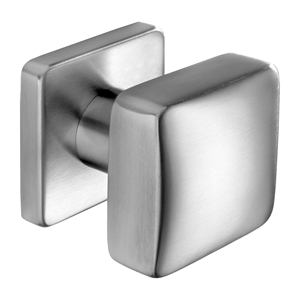 door knobs square door knob 62mm base manufactured in satin stainless steel pom7001