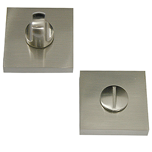 50mm square escutcheon keyhole door satin nickel finish manufactured in zinc alloy mu95550