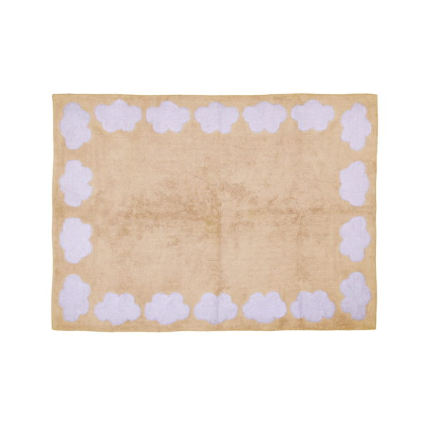 beige cloud child rug in washing machine washable cotton n be image