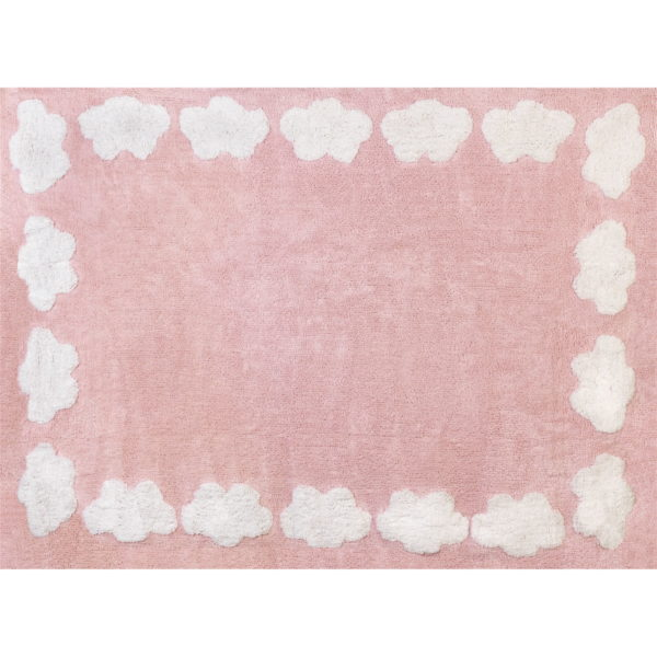 pink cloud child rug in washing machine washable cotton n rs image