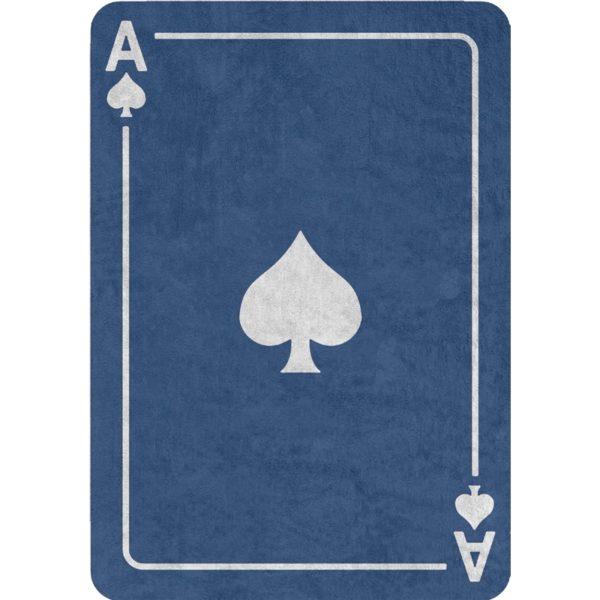 alfombra infantil azul as de pica lavable en lavadora algodon na pi imagen
