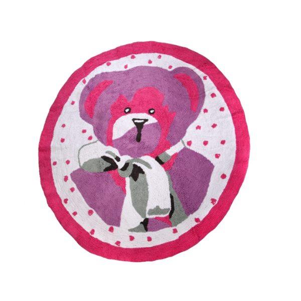 alfombra infantil osito rosa lavable en lavadora algodon o rs imagen