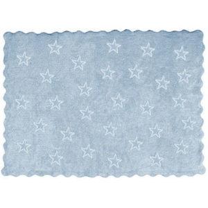 alfombra infantil paris celeste lavable en lavadora algodon par az imagen