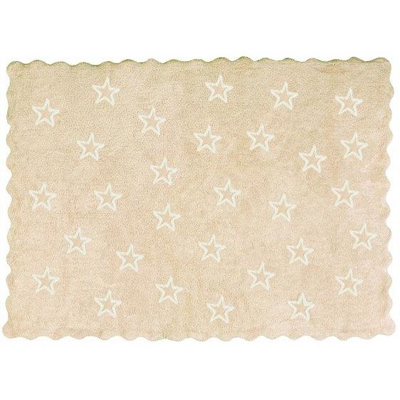 alfombra infantil paris beige lavable en lavadora algodon par be imagen