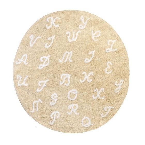 alfombra infantil pasa palabra beige lavable en lavadora algodon pasa be imagen