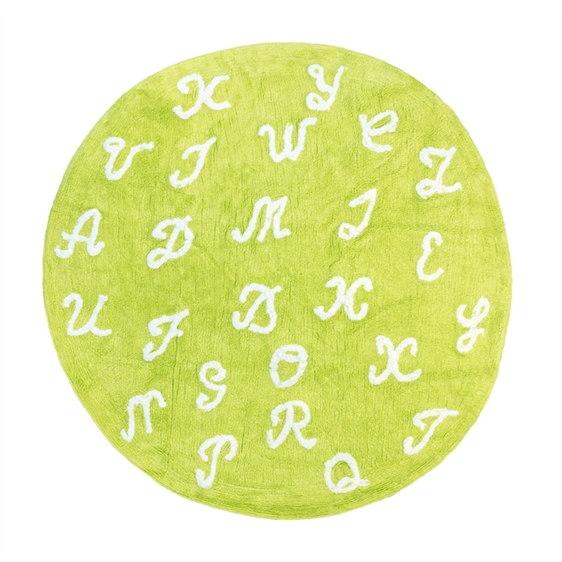 alfombra infantil pasa palabra pistacho lavable en lavadora algodon pasa pi imagen