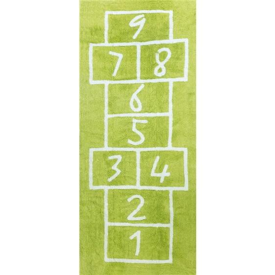 alfombra infantil sambori pata coja pistacho lavable en lavadora algodon pata pi imagen