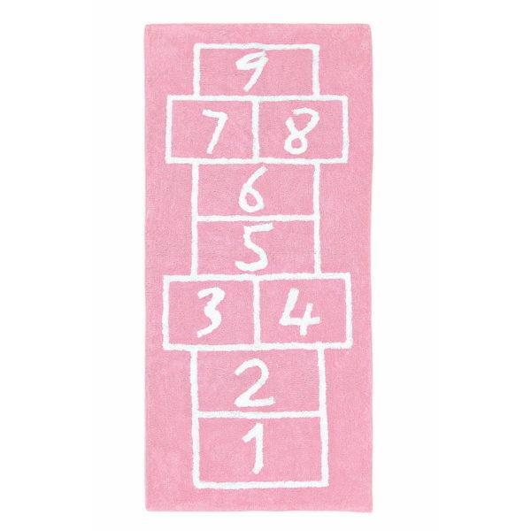 alfombra infantil sambori pata coja rosa lavable en lavadora algodon pata rs imagen