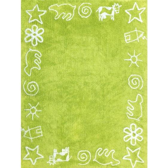 alfombra infantil prado pistacho lavable en lavadora algodon pra pi imagen