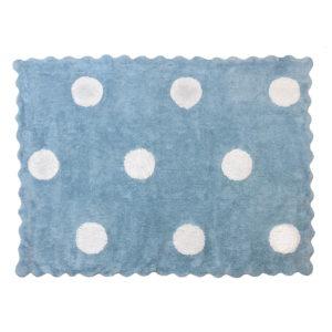 alfombra infantil topos celeste lavable en lavadora algodon to az imagen