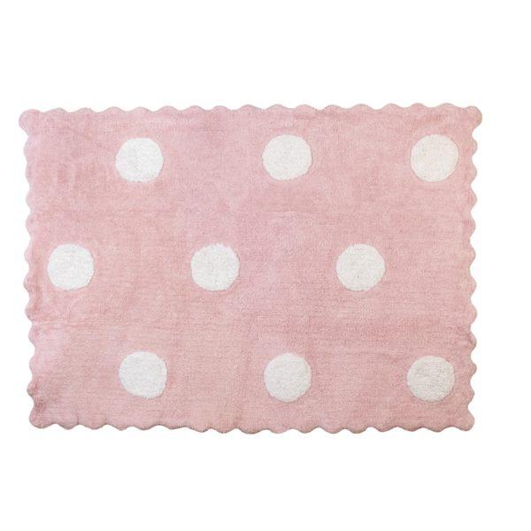 alfombra infantil topos rosa lavable en lavadora algodon to rs imagen