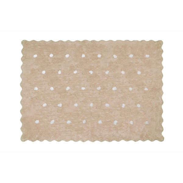 alfombra infantil topitos beige lavable en lavadora algodon tp be imagen